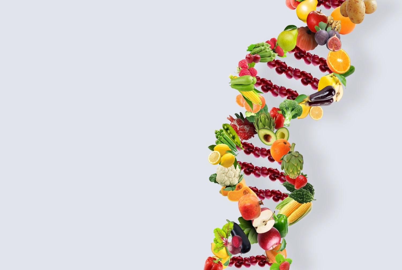 了解基因同肥胖基因 DNA Nutrigenetics healthy fresh vegetables and fruits
