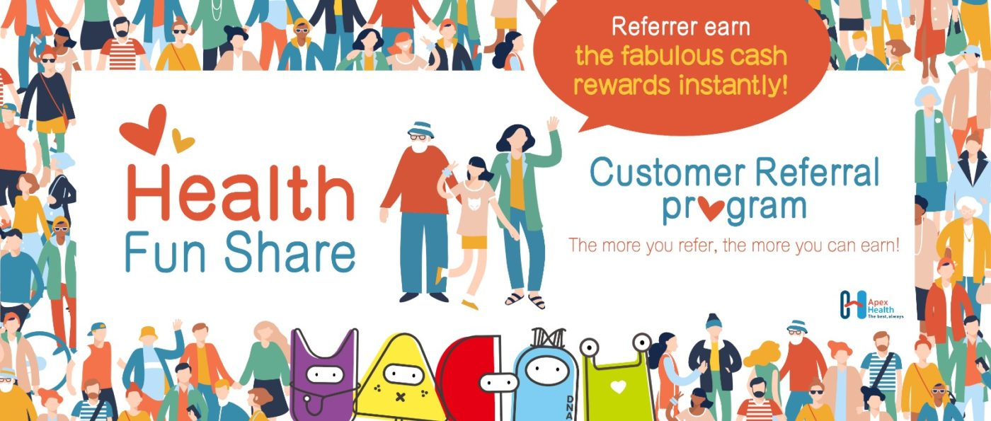 Healthy Fun Share Customer Referral program Desktop