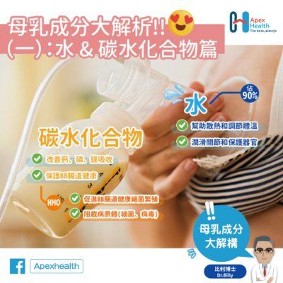 母乳成份 碳水化合物 水分