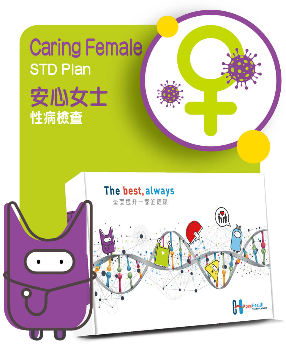 安心女士性病檢查 Caring Female STD Check up Plan