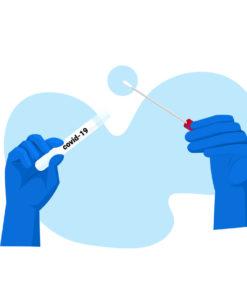 專人咽喉和鼻腔合併拭子 Combined Throat Nasal Swab Sampling