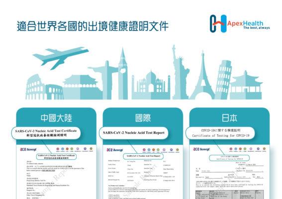 ApexHealth 出境證明文件 Travel Certificates