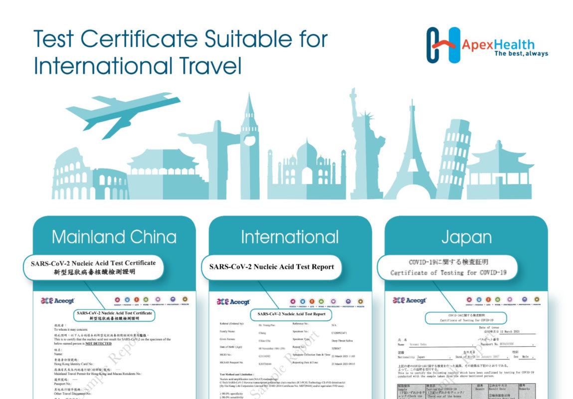 ApexHealth Travel Certificates