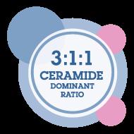 Ceramide-dominant rebuild the protective skin barrier